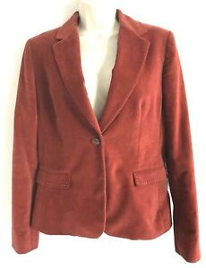 Rust Jacket 10 Tahari Farve One Blazer Sz 448 Elie Button francesca Sienna IfwAqY