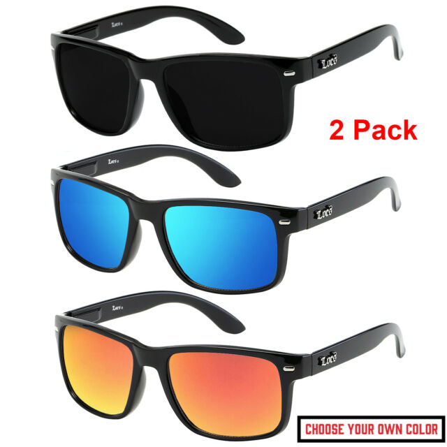 BLACK OG Mad Dogger Locs Sunglasses Super Dark Lens motorcycle Shades mens