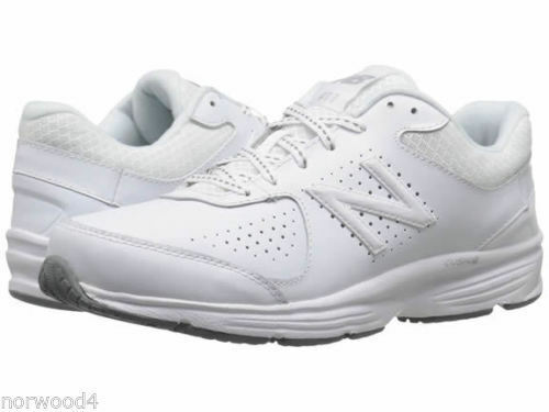 NEW BALANCE 411 LEATHER LOW D WIDE WOMEN SHOES WHITE GREY W411WT2 SIZE 6 NEW
