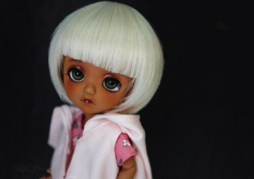 "1//8 Girl BJD SD Doll Wig Dollfie 5/""  For DZ DOD LUTS  LATI Y Doll Wig DB31 White"