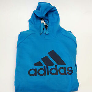 Adidas-ESS-Logo-Hoody-solarblue-Kapuzenpulli-Pullover-mit-Kapuze-Gr-L