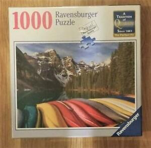 New-Ravensburger-Mountain-Canoes-1000-Piece-Jigsaw-Puzzle
