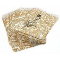 1000 Jewelry Paper Shopping Gift Bag 6x9 Gold Tone