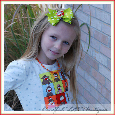 "BonEful RTS NEW Girl Disney Red Black Yellow White Dot 4/"" Mickey Minnie Hair*Bow"