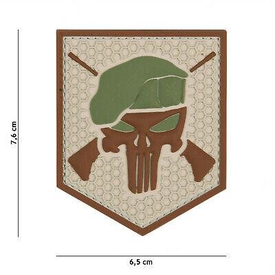 Commando Punisher Coyote #20010 Patch Klett Abzeichen Airsoft Paintball Softair