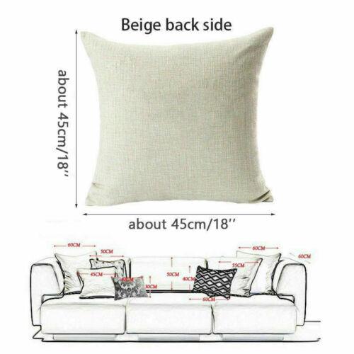 I NEED MORE SLEEP Letter Decor Cotton Linen Throw Pillow Case Sofa Cushion Cover