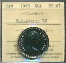 Canada 1978 50 cent Coin ICCS MS-67 NBU (Square Jewels)