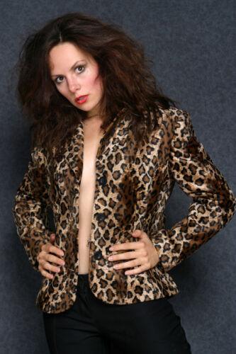 Leopard braun Blazer Weste für Damen Damenblazer