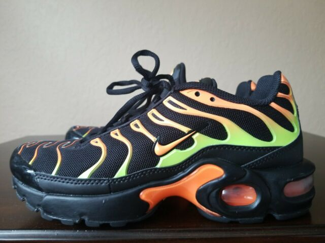 Nike Air Max Plus TN Black Volt Orange GS 655020-084 Sz 3.5y or ...