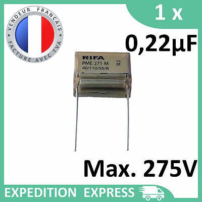 1 condensateur RIFA PME 271 M X2 0,22µF 0.22µF 220nF 220n 275V 20.3mm SH 250V MP