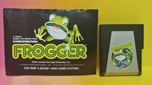 Atari-2600-Frogger-Game-amp-Instruction-Manual-Tested-Works-Rare