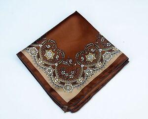 $75 Retail New Lord R Colton Masterworks Pocket Square  Villarrica Copper Silk