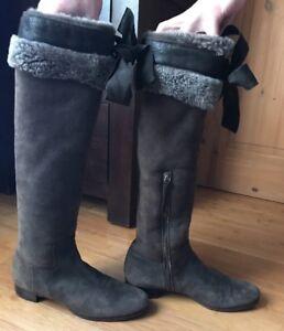 5 Tall Boots 5 Uk It38 Lined Sheepskin Miu HaRAn8PA