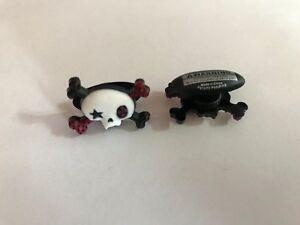 Girl-Skull-amp-Bones-Shoe-Doodle-For-Rubber-or-Shoes-Crocs-Shoe-PSC1095