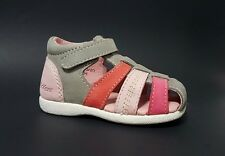 Brand New $70 KICKERS Toddler Girls LEATHER Baby Sandals Size 4,5 USA/20 EURO