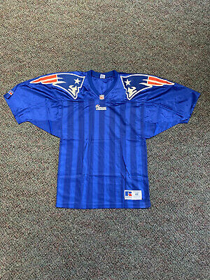 Russell Athletic New England Patriots Blank Authentic Blue Retro Vtg Vintage Og   eBay