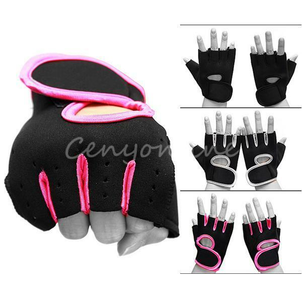 2X Weight Lifting Leather Padded Gloves Fitness Traning Body Buliding Gym Sports