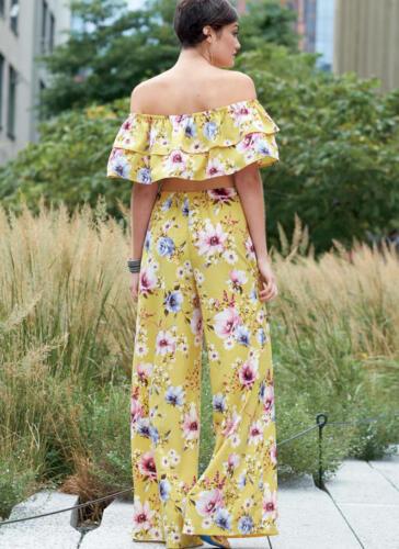 NEW Sizes L, XL McCalls 7757 Off Shoulder Mini Tops /& Pants Sewing Pattern