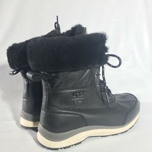 2dda880cab6 Details about UGG Women's Adirondack III Waterproof Snow Boots Quilt  1098556 Black Size 6.5
