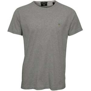 b9c9f3466c253f Gant Original Solid Crew-Neck Men's T-Shirt, Light Grey Melange | eBay