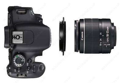 Lente Adaptador Anillo Inversa de macro 77 mm para Cámara Canon Eos 500D//600D//700D