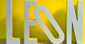 3D Deko Buchstaben Styrodur 10 cm groß Wanddeko Zahlen Design Logo ...