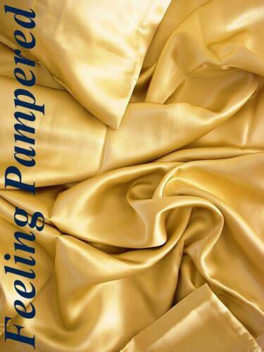 4 pcs 100/% silk bed sheet set flat fitted pillowcases Deep Pocket