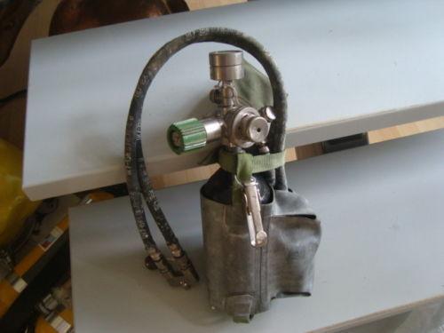 Russian Soviet nitrox external off board bottle for rebreather IDA-71. Not Used