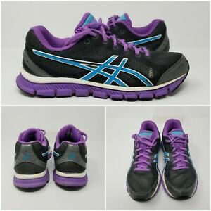 Asics-Gel-Flash-Trainer-Gray-Purple-Blue-Womens-Running-Shoes-Sneakers-size-8-5