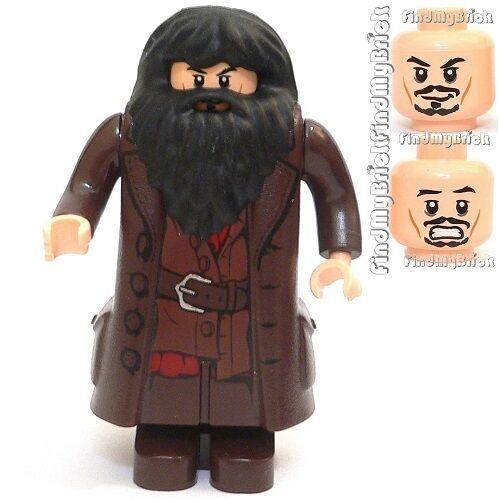 HP030 Lego Custom Hagrid Minifigure with Custom Dual Sided Faces Head NEW