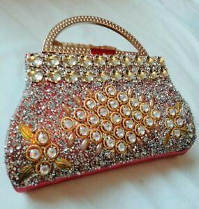 Women-039-s-Sequins-Envelope-Bag-Glittered-Evening-Party-Purse-Clutch-Handbag-UK
