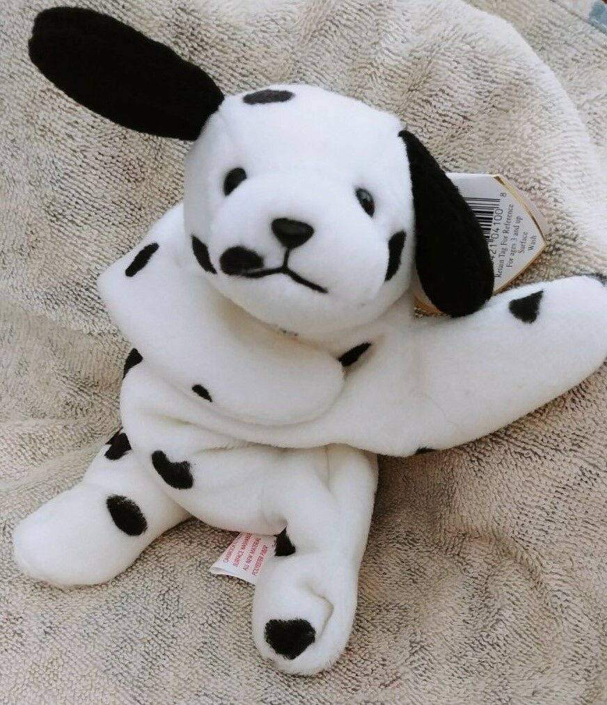 TY Beanie Babies Dotty Dotty Dotty the Dalmatian Dog with Tab Errors PVC 08beca