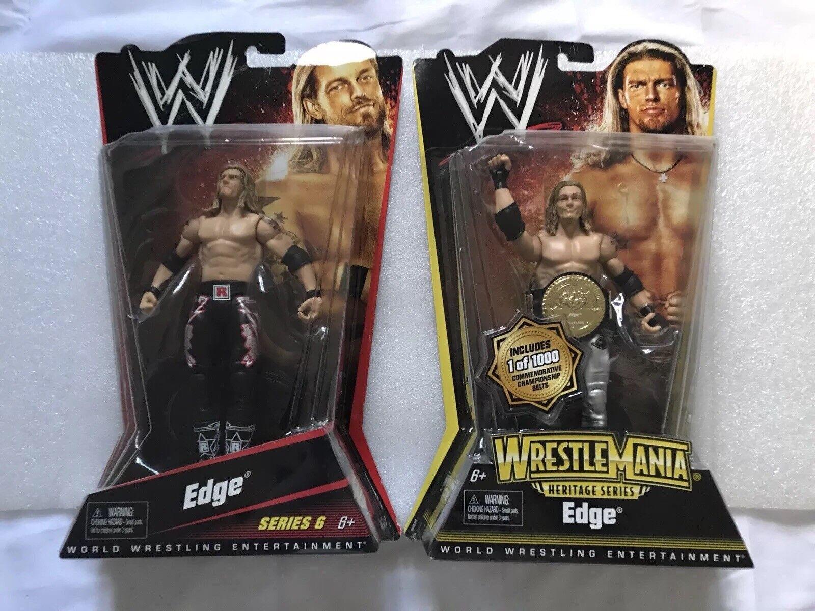 WWE MATTEL Basic Series 6 & Wrestlemania Heritage Edge Figures - SET OF 2 NEW
