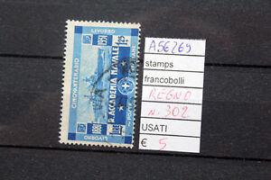 FRANCOBOLLI-ITALIA-REGNO-USATI-N-302-A56269