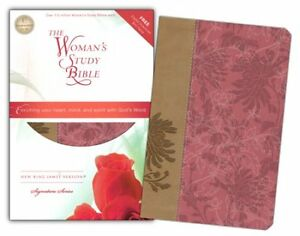 NKJV-The-Woman-039-s-Study-Bible-Personal-Size-Fabric-leathersoft-pink-caf-amp-233