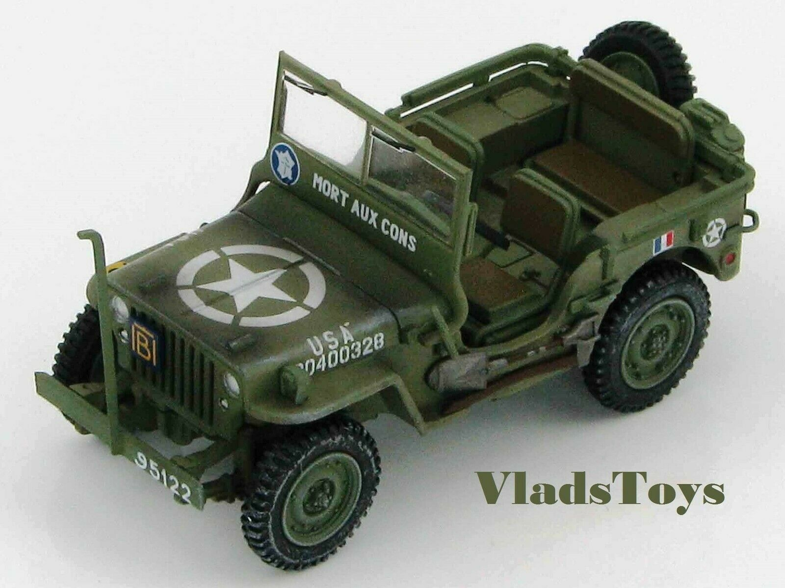 Hobby Master 1 48 Willys Jeep French Army  Mort Aux Cons  Europe 1944 HG1609