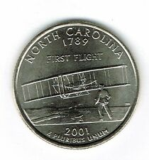 Circulated 2001 North Carolina State Quarter Roll 40 Coins!