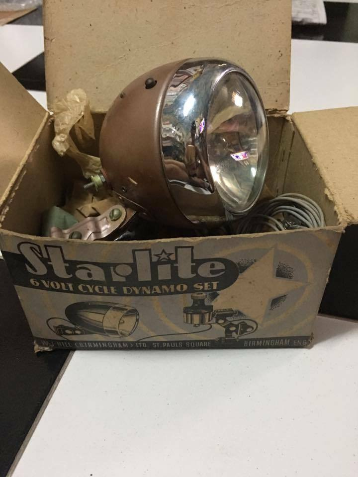 Vintage Starlite HeadLight Cycle Bicycle RALEIGH Humber  Phillips SCHWINN NOS SET  save up to 50%