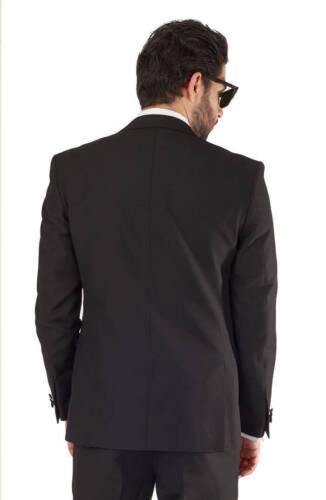Black Peak Lapel Dinner Jacket Tuxedo Slim Fit 1 Button Blazer By AZAR  MAN