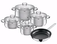 Wmf Silit 9-piece Toskana 18/10 Stainless Steel Cookware Set on sale
