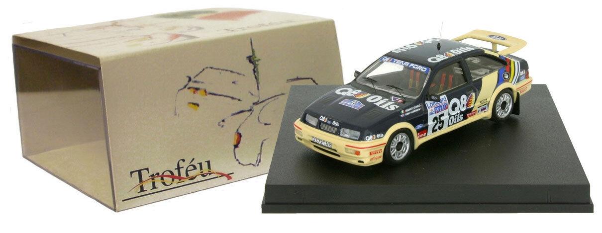 Trofeu 113 Ford Sierra Cosworth 'Q8' RAC Rally 1989 - Franco Cunico 1 43 Scale