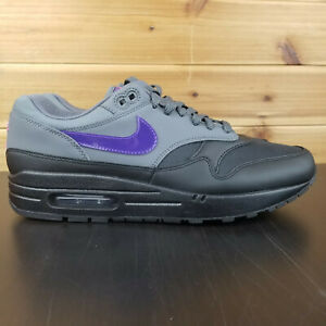 on feet at newest collection buy popular Details about Nike Air Max 1 Miami Nights Black Grey Purple Pink AR1249-002  Men's Shoes