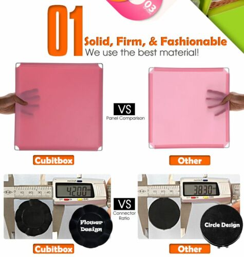 DIY Home Storage Cube Cabinet for Clothes Shoes Bags Cubitbox Black 6 Office