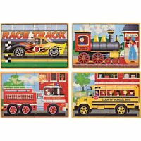 Melissa And Doug Deluxe Vehicles In A Box Jigsaw Puzzles , New, Free Shipping on sale