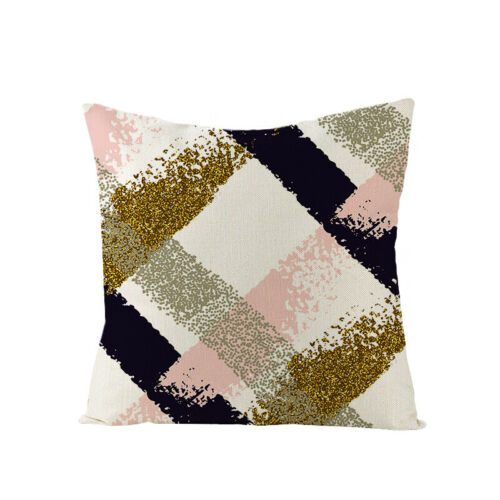 Outdoor Couch Sofa Pillow Case Bronzing Geometric Decorative Throw Cushion Cover