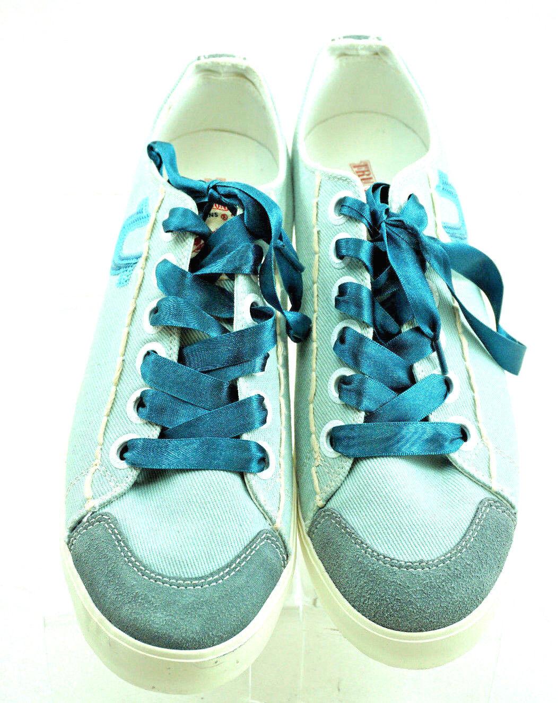 TRUE RELIGION Women's Light Teal Canvas Sneakers Women's RELIGION Size 9.5 EUC a7d625