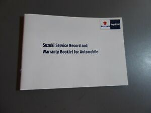 SUZUKI-VITARA-SWIFT-ETC-2015-2016-STAMPED-SERVICE-BOOK-NO-CAR-DETAILS-GENUINE