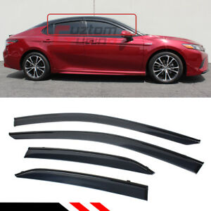 FOR-2018-2021-TOYOTA-CAMRY-CLIP-ON-BLACK-TRIM-WINDOW-VISOR-RAIN-GUARD-DEFLECTOR