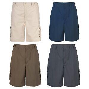 Trespass-Gally-Mens-Cargo-Shorts-Summer-Active-Availabe-in-Black-Grey-Khaki