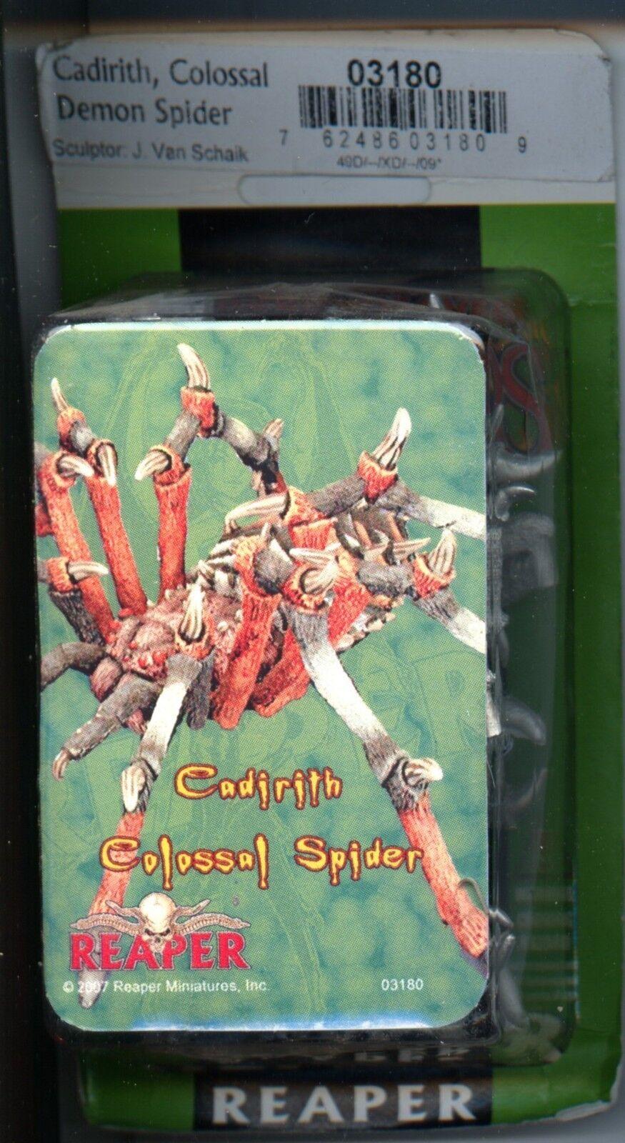 Reaper Dark Heaven Legends Cadirith, Giant Colossoal Spider MINT Metal